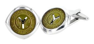 NYC Subway Token cufflinks in sterling silver and recycled subway token - $616