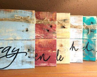 Cadre de tableau bois de palette de pince à linge par EdisonAvenue