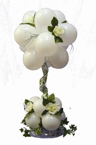 Balloon Topiaries. #wedding #balloon #centerpiece #decor