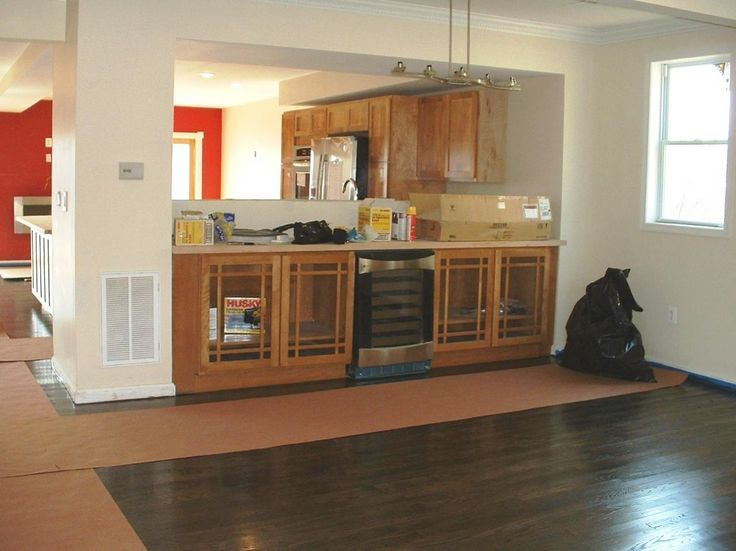 Image result for open load bearing wall kitchen