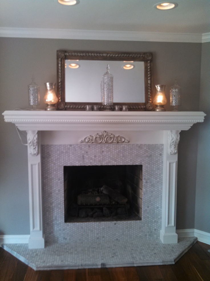 Fireplace Surround Carrera Marble 1 Quot Hexagon Mosaic