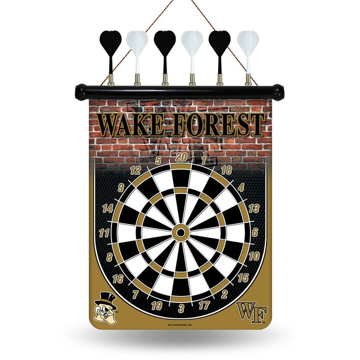 Wake Forest Demon Deacons Magnetic Dart Board, Multicolor