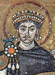 Justinianus, vagy Jusztinianusz, 483. május 11. – 565. november 14., uralkodott 527. augusztus 1. – 565. november 14./15.) bizánci császár, I. Iusztinosz unokaöccse és utódja volt.  Uralkodása fordulópont volt a Keletrómai Birodalom és a kora középkor/késő antikvitás történetében.Ekkor kísérelték meg utoljára egyesíteni a Római Birodalom területeit, ekkor élte utolsó virágzását a római kultúra – és ekkor tört be először Európába a bubópestis,