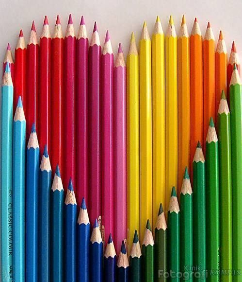 Jessi Lawson Artist I Love The Bright Colors: Rainbow Pencils Heart