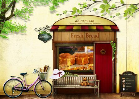 Декоративная пекарня — Различные PSD, PNG файлы для фотошопа