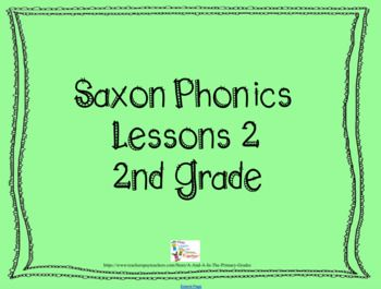 This file accompanies 2nd Grade Saxon Phonics Lesson 2. You must have smart notebook software to download.