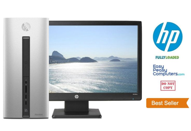"Computers for Sale - HP Desktop Computer Fast Tower 20"" Monitor Windows 10 8GB 1TB DVD (FULLY LOADED) #HP"