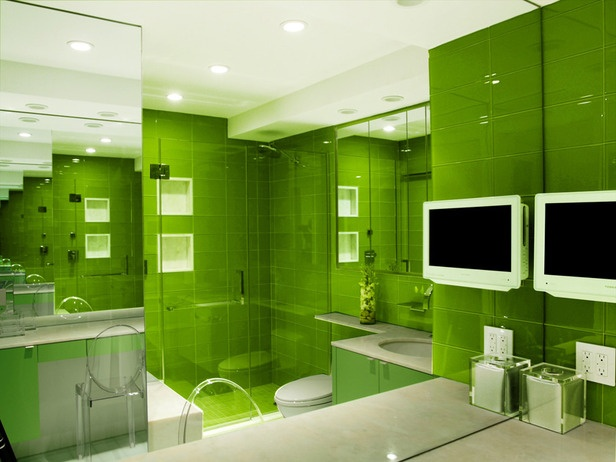 218 best images about green bathroom on pinterest for Bright green bathroom ideas