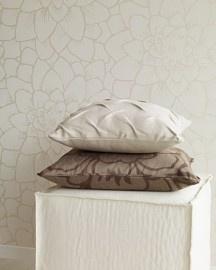Behang:bloemmotief maar moderne vormgeving
