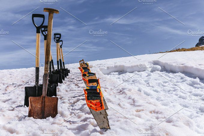 Shovels and saws by OSORIOartist on @creativemarket