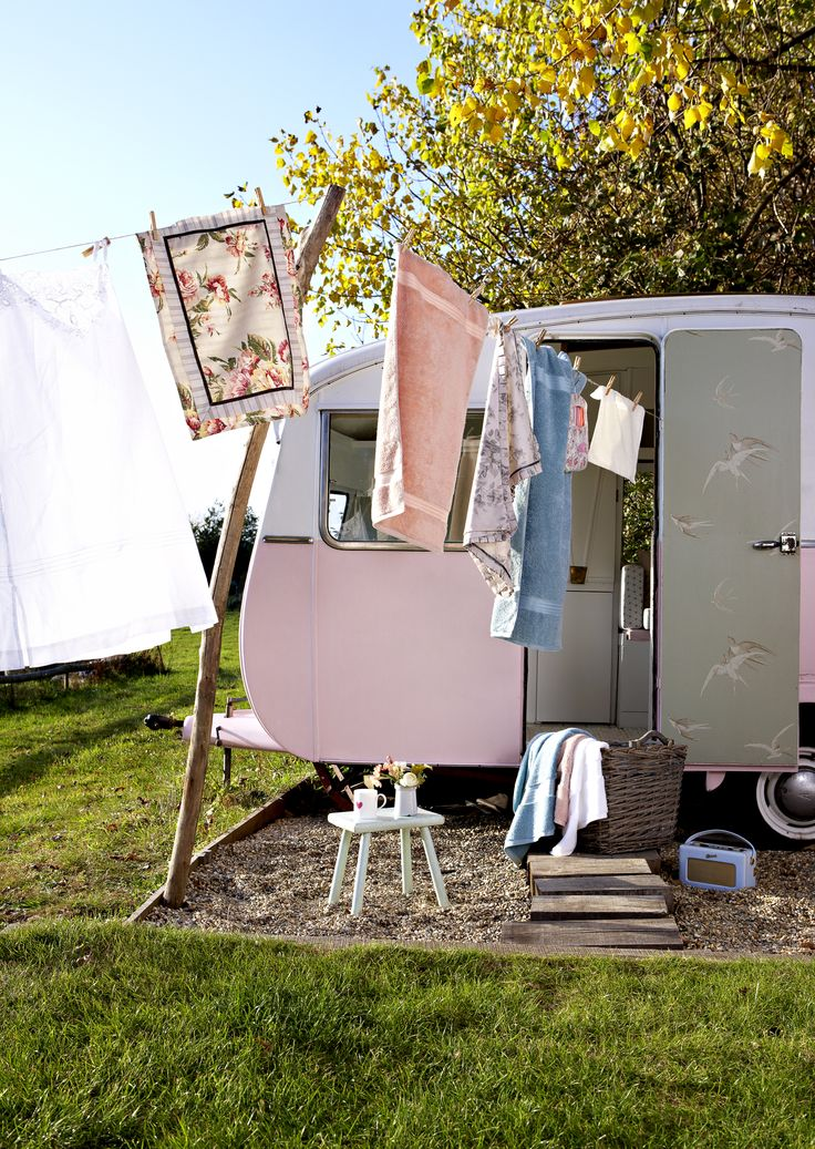 Christy elegance towels, cute caravan style