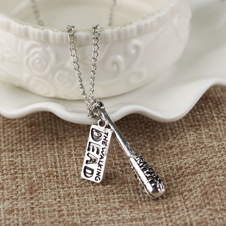 The Walking Dead Necklace Cudgel  And Letter Logo Pendant Fashion Jewelry For Women And Men //Price: $7.95 & FREE Shipping //     #lucille