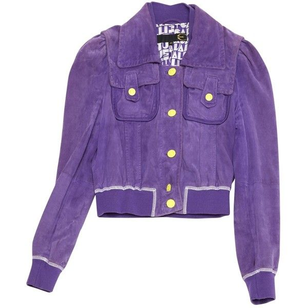 Pre-owned Just Cavalli Short Vest (180 AUD) ❤ liked on Polyvore featuring outerwear, vests, purple, women clothing jackets, just cavalli, purple vest, purple waistcoat, short vest and vest waistcoat