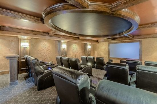 7 best custom movie theaters images on pinterest home for Luxury home theater rooms