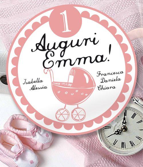 #biglietto tondo d'#auguri per Emma