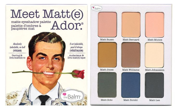 Meet Matt(e) Ador.® -- Matte Eyeshadow Palette – theBalm