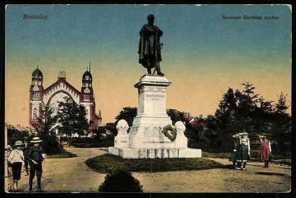 Miskolc; Szemere Bertalan szobor | Képeslapok | Hungaricana