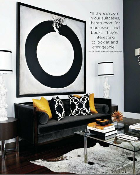 Black White And Yellow Focal Pointsblack Living Room Decorliving