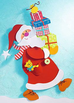 Elkészítés:  • Fehér, bézs színű, sárga, narancssárga, okker, piros, élénk rózsaszín és világoszöld kartonpapír • Piros-fehér csíkos papí...