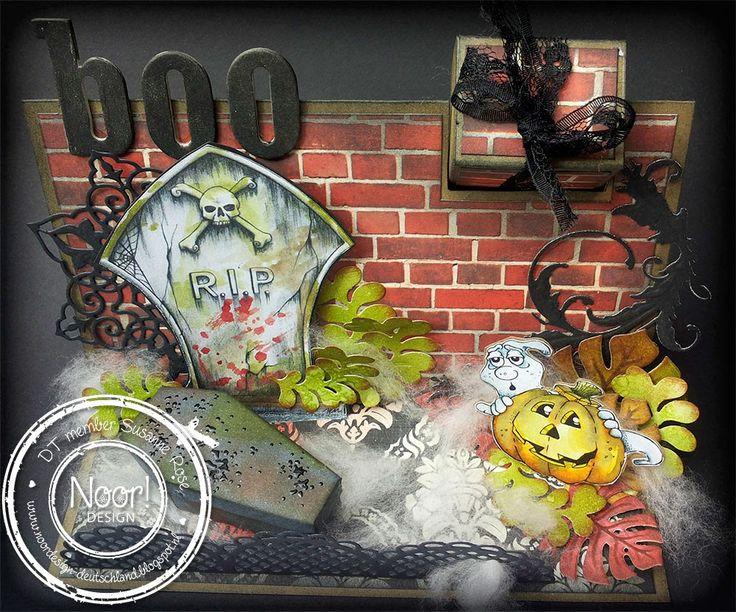 Challenge auf dem Noor! Design Blog #noordesign #halloween #qkrstampede #card