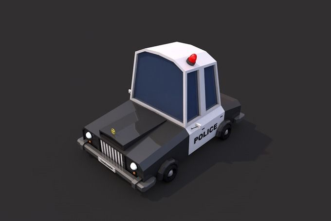 Low Poly Police Car by CreativeeArt on @creativemarket