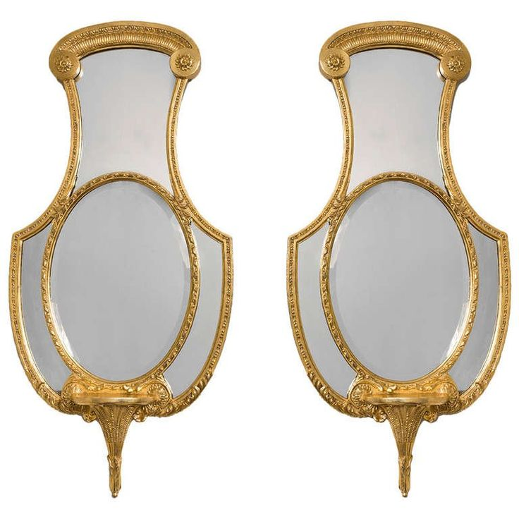 Pair of Regency Giltwood Mirrors | From a unique collection of antique and modern mantel mirrors and fireplace mirrors at https://www.1stdibs.com/furniture/mirrors/mantel-mirrors-fireplace-mirrors/