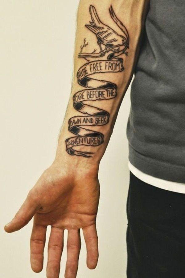 Tattoo schriftzug männer unterarm 45+ Beste