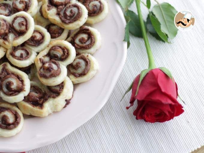 Mini folhado Coração de Chocolate