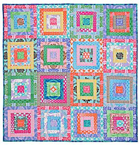 Free PDF: Bell Bottom Quilt by Marcia Moore, using Free Spirit fabrics. These colors just make me smile.