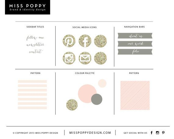 www.misspoppydesign.com  Miss Poppy Design is a Melbourne based boutique graphic design studio specialising in creating stunning visual identities, print design and web concepts for creative businesses worldwide. If you would like to see our portfolio please have a look at our website, www.misspoppydesign.com  Please note that this logo is sold more than one time. Logos can be sold outright if they are yet to be purchased- just contact me. THIS PACKAGE INCLUDES; • Sidebar titles x3 • Social…