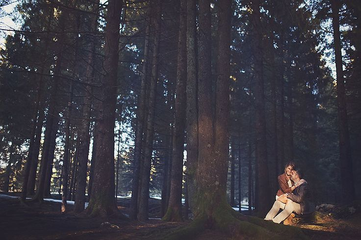 snowy engagement session by Nadia Di Falco photographer