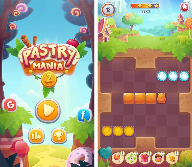 Meet Pastry Mania 2! Puzzle game for mobile where we designed 2d graphics and created animations.