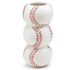 """Stacked 7 1/2""""H Baseball Vase/planter Great Vase For Home Decor or Sport Events by Burton & Burton, http://www.amazon.com/dp/B0051BJ0C2/ref=cm_sw_r_pi_dp_Bz28qb03F8EXM"""