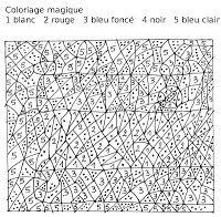 1000 images about coloriages magiques on pinterest - Coloriage magique dur ...