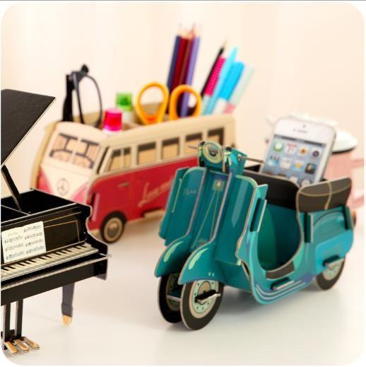 Garantizado 100% 2016 nuevo DIY pluma de madera del castillo de Bus caja de almacenamiento de Piano para material escolar oficina organizadores cajas en Cajas y Papeleras de Almacenamiento de Casa y Jardín en AliExpress.com   Alibaba Group