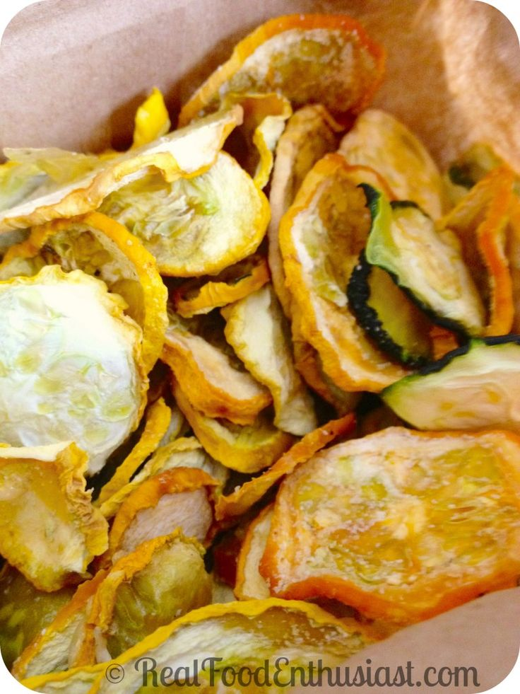 These homemade squash chips are incredibly easy to make and even my kids love them!