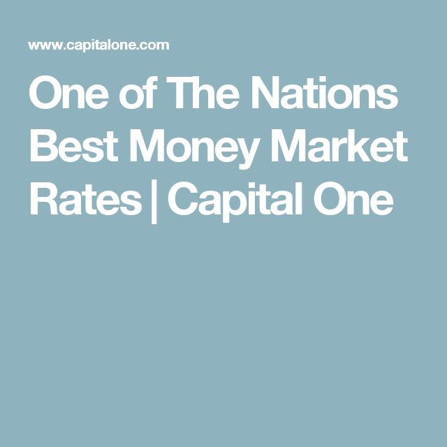 One of The Nations Best Money Market Rates‎ | Capital One
