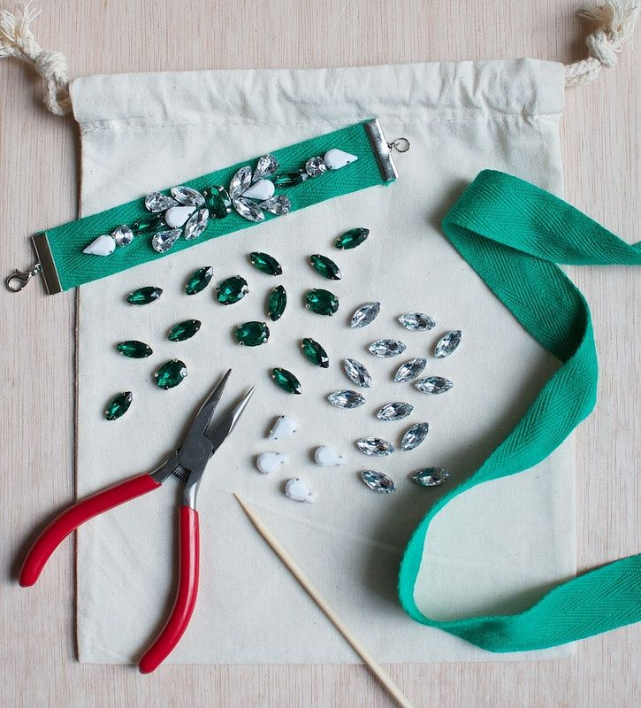 Нарядно-шикарные браслеты своими руками (Diy)