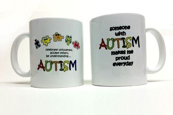 A great gift for that teacher, administrator, para, and parent that goes that extra mile for a child with autism.  Colorful, whimsical and promoting autism acceptance.