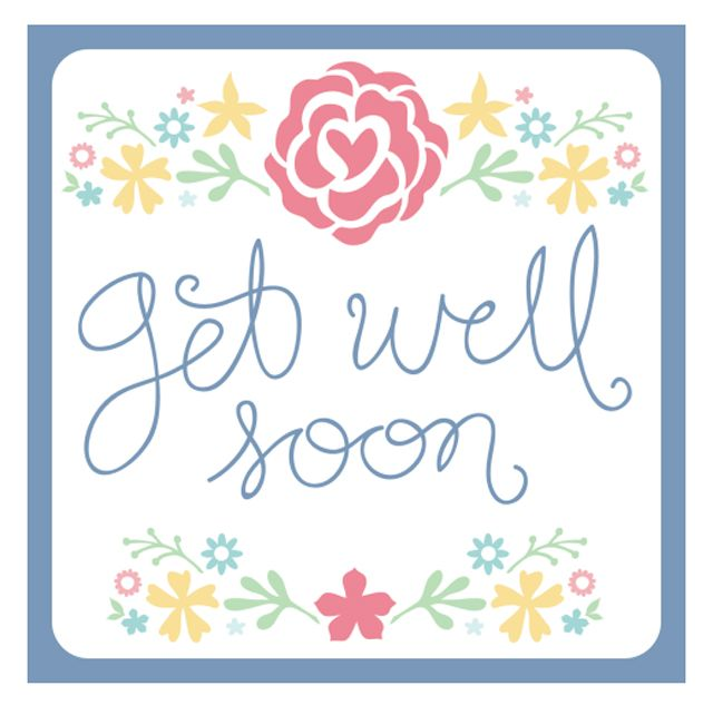 Send a Smile With These Free, Printable Get Well Cards: Printable Get Well Card by Falala Designs