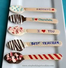Image result for chocolate dipped spoons