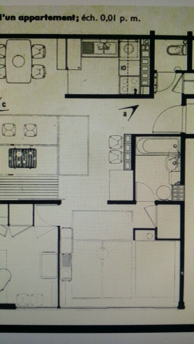 Logement du0027un immeuble collectif Architecture PlanArchitecture Drawing