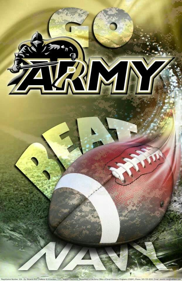 Go Army, Beat Navy!  Wow...this will take some getting used to after years of Navy football.
