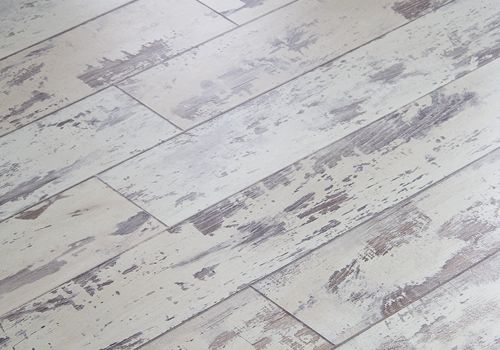 Distressed White Flooring Decorating Floors