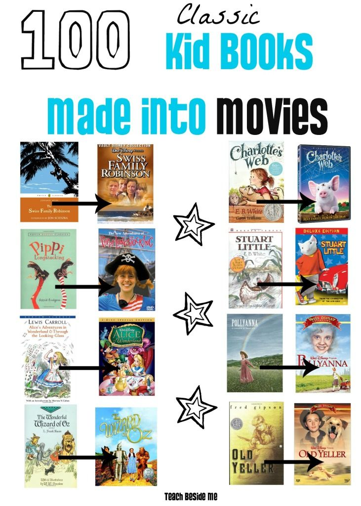 Free list of classic books made into movies ~ Great list to share with parents!