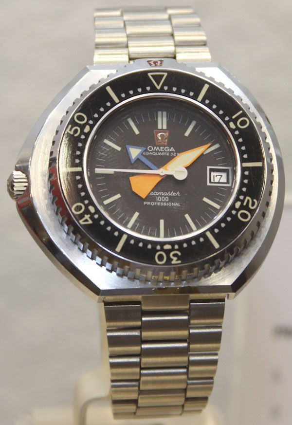 Omega Megaquartz 32 Seamaster 1000 - mens dress watches, designer mens watches for cheap, cool mens watches