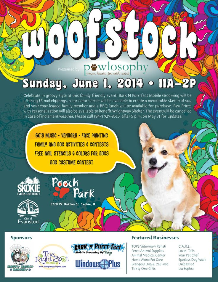 13 best evanston events images on pinterest june chicago and bring your dog to woofstock on june 1 from 11am 2pm at the skokie pooch solutioingenieria Image collections