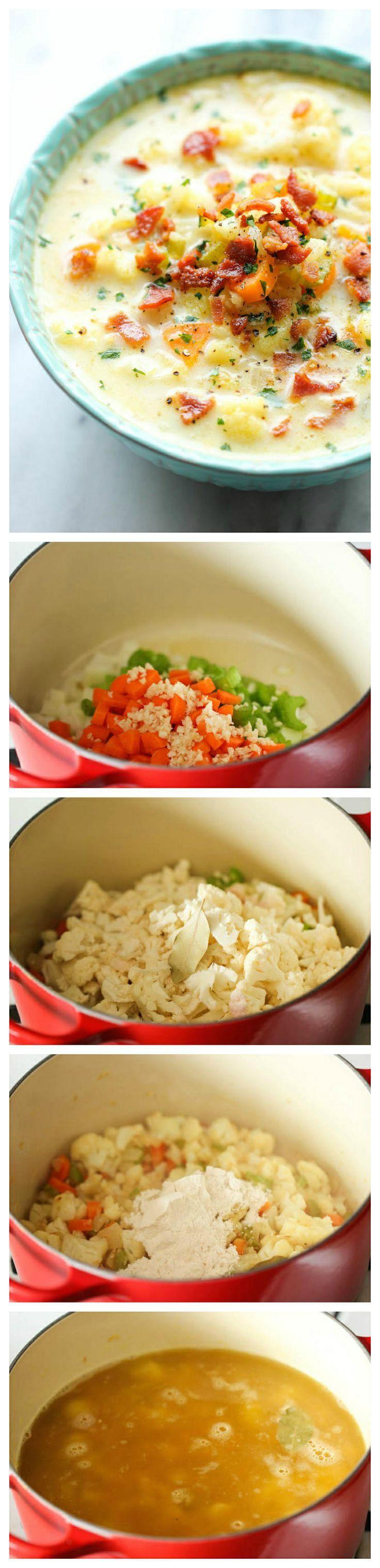 Cauliflower Chowder A creamy, low carb, hearty and wonderfully cozy soup. Well yum!