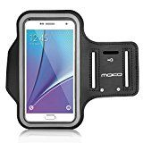 """MoKo Sports Running Armband with Key Holder & Card Slot Sweatproof Hiking Biking Walking Jogging Arm Band Case Cover for Samsung Galaxy S7 Edge / Galaxy Note 7, BLACK (Fits Cellphones up to 6.0"""")"""