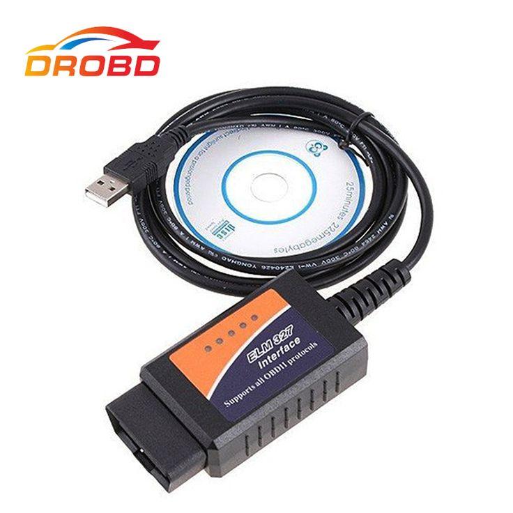 Best quality Diagnostic Tool V1.5 ELM327 USB FTDI FT232RL+PIC18F2480 chip modified FTDI chip OBD2 Supports all OBDII protocols #Affiliate